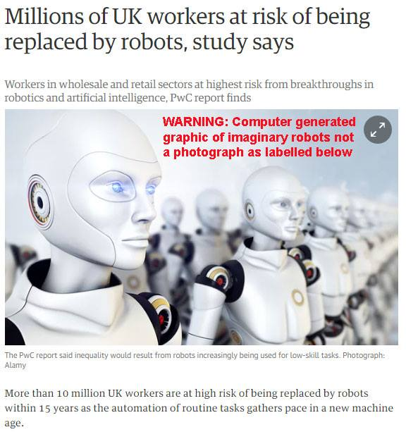 Guardian article about robots