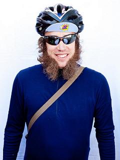 Bearded cyclist