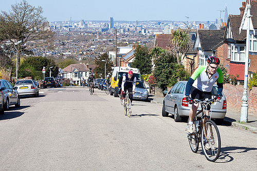 Riding up Canonbie Road