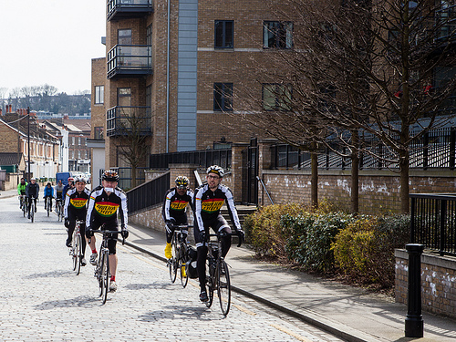 Brixton CC on the cobbles