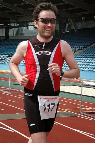 Finish at Crystal Palace Triathlon