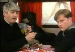 Father Ted - small, far away