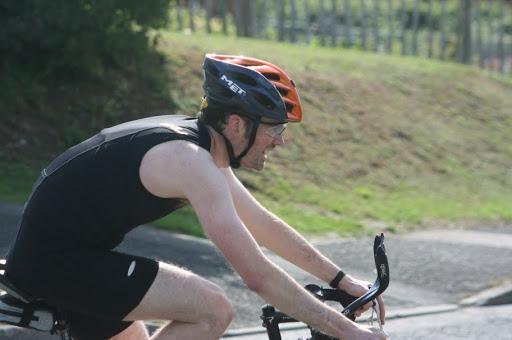 Me cycling at Leybourne sprint triathlon