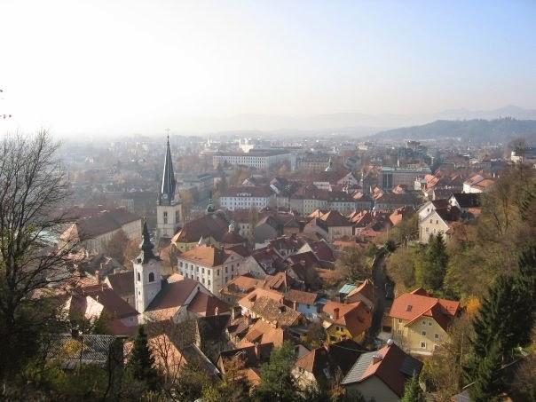 view over Ljubljiana