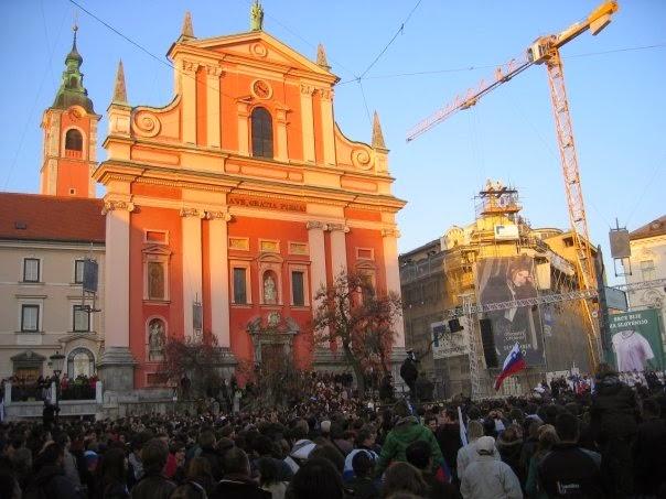 Main square in Ljubljana