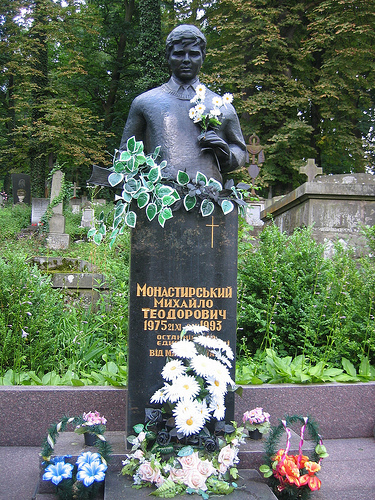 statue in Lychakiv Cemetery
