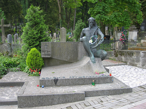 gravestone in Lviv, Ukraine