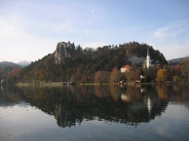 Long shot of Bled Castle
