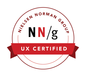 UX Certified NNG badge