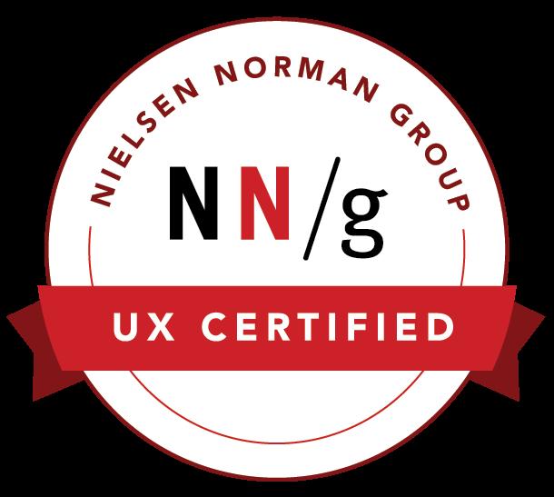 UX Certified NNG badge