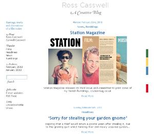 Ross Casswell wordpress theme