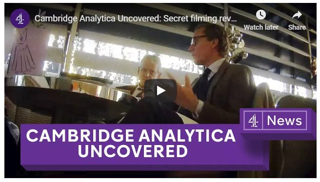 Cambridge Analytica investigation Channel 4 News