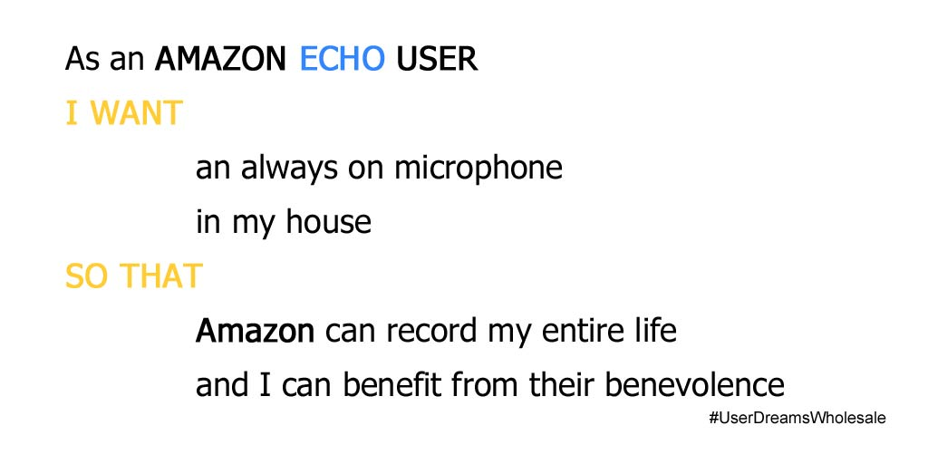 Amazon Echo user story