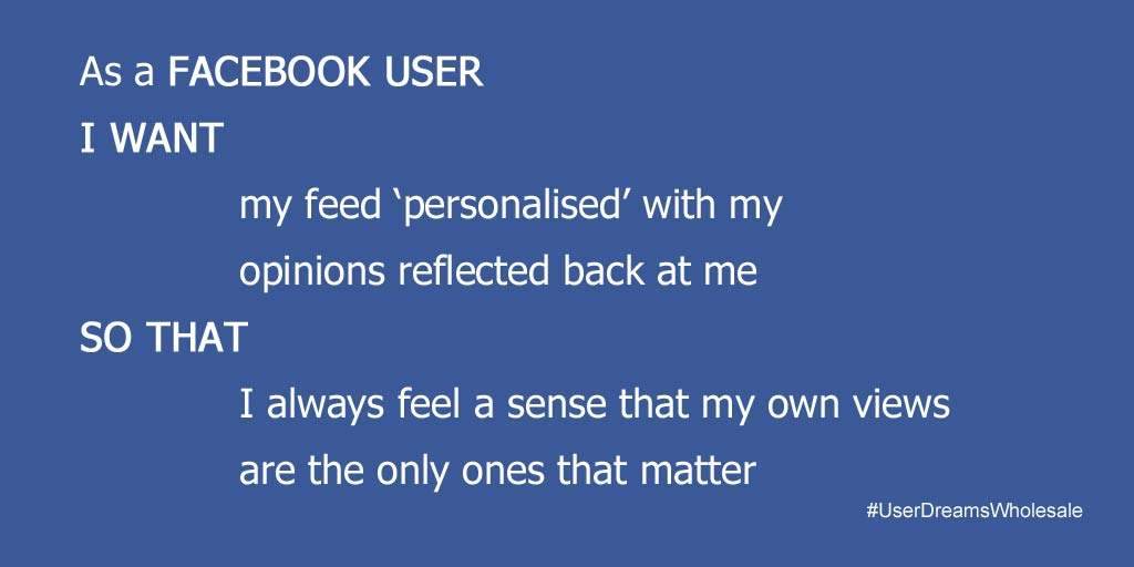 Facebook filter bubble