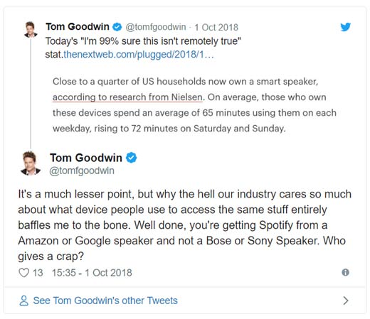 Goodwin Amazon Tweet