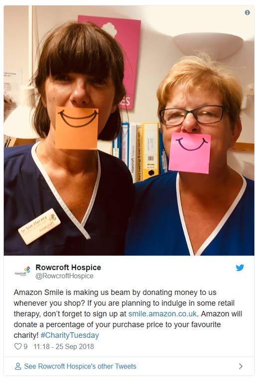Amazon smile hospice tweet