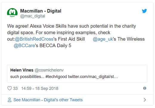 Macmillan amazon tweet