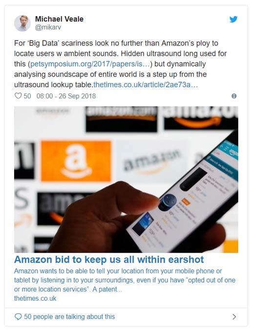 Amazon ultrasound tweet