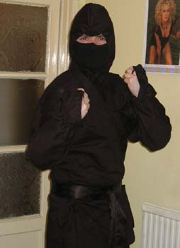Me in a ninja outfit