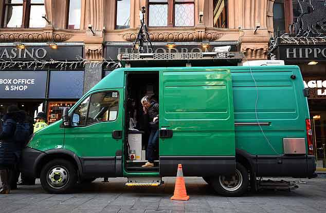 Unmarked facial recognition van