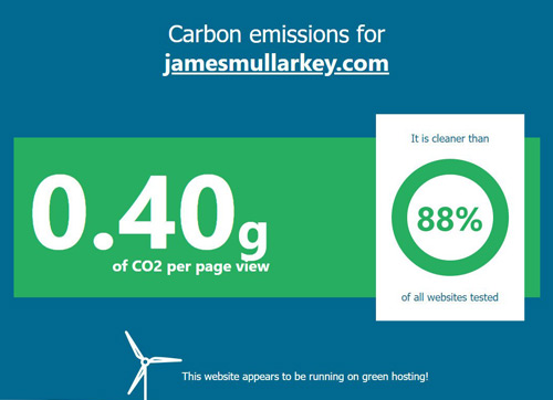 jamesmullarkey.com carbon emissions