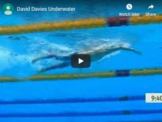 David Davies swimming underwater