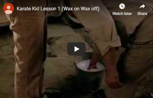 Karate Kid training montage