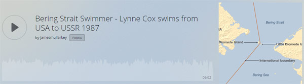 Lynne Cox swims from USA to USSR