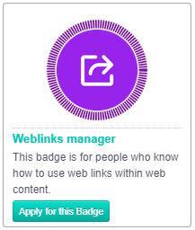 weblink manager badge