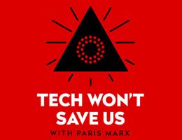 Tech won't save us logo